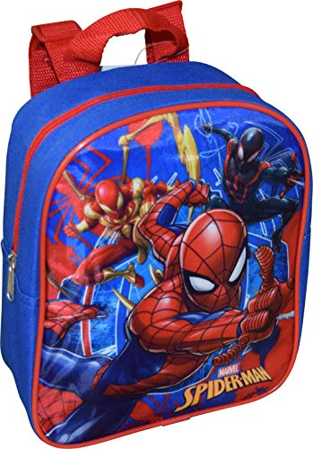 Marvel Spider-Man 10' Mini Backpack, Blue-Red, Size Small