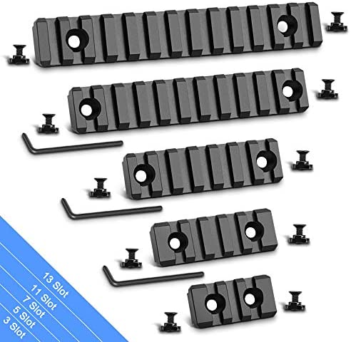 Modkin Picatinny Rail Accessory Set 3 5 7 11 13 Slots Aluminum Picatinny Rails Section with product image