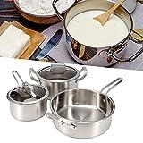 Zwinner 3 Pezzi/Set Padella, Set di pentole, per Cucinare zuppa di stufato di pentole Calde