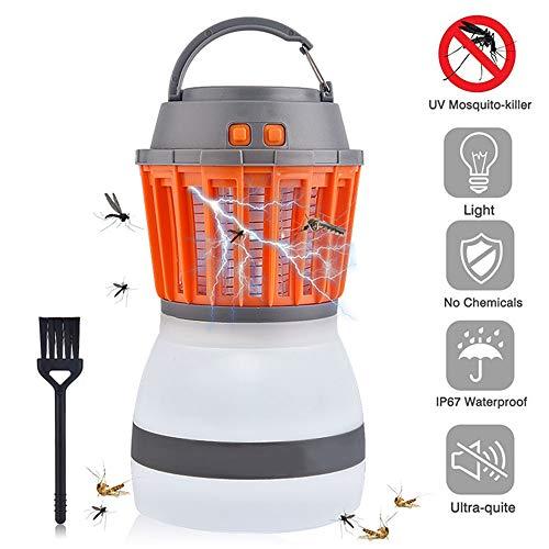 LANGYINH Bug Zapper LED Lamp, USB Oplaadbare Muggenmoordenaar,2 in 1 Waterdichte Draagbare Camping Lantaarn, Gebruik voor buiten, Binnen, Tuin, Camping, & Reizen