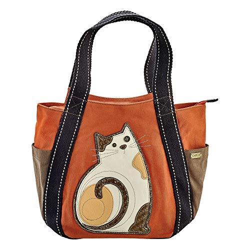 Chala Carryall Zip Tote, Lazzy Cat, Orange