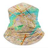 Xebcivso Boston Watercolor Map Scarf Microfiber Neck Warmer Women and Men