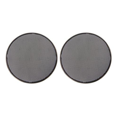 SimpleLife 1/2/3/4/5/6.5 Pulgadas Rejillas de Altavoz Funda Redonda Parrilla Protector Círculo Decorativo Círculo Decorativo Accesorios de Audio-ABS, Negro