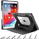 OCYCLONE Funda para iPad Air 10,5 (3.ª Gen) 2019 / iPad Pro 10.5' 2017 - Magnetica Múlti-ángulos Viewing - Transparente Carcasa iPad con Incorporado Soporte Apple para Pencil, Negro