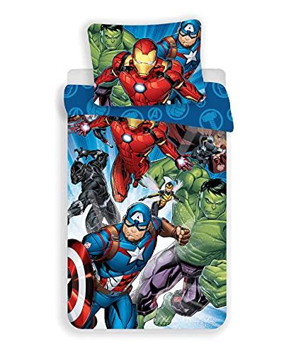 Set di Biancheria da Letto Marvel Avengers Copripiumino 140 x 200 cm e Federa 70 x 90 cm