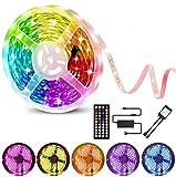 Youngneer Ruban LED 15m Multicolore avec Télécommande 15m Bande LED 5050 RGBW Pour Chambre Cuisine Lit Interieur Mariage Fête...