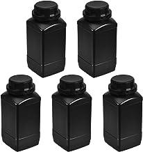 uxcell Plastic Lab Chemical Reagent Bottle, 1000ml/ 34oz Wide Mouth Sample Sealing Liquid/Solid Storage Bottles, Black 5pcs