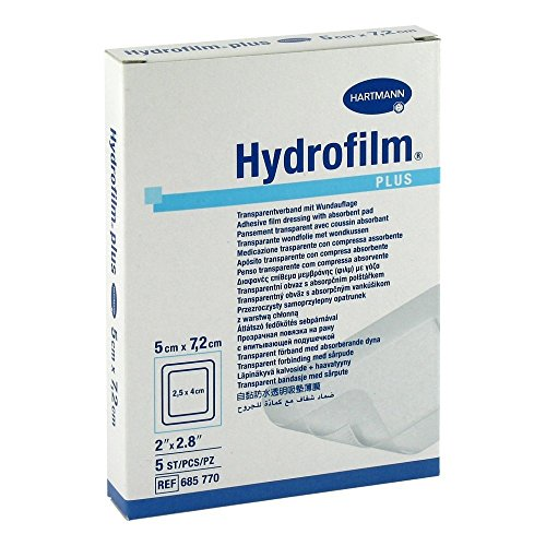 Hydrofilm Plus Transparentverband steril 5 x 7.2 cm 5 Stück