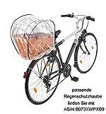 Tigana – Hundefahrradkorb für Gepäckträger aus Weide 60 x 39 cm mit Metallgitter + Kissen Tierkorb Hinterradkorb Hundekorb für Fahrrad – SCHWARZ - 7