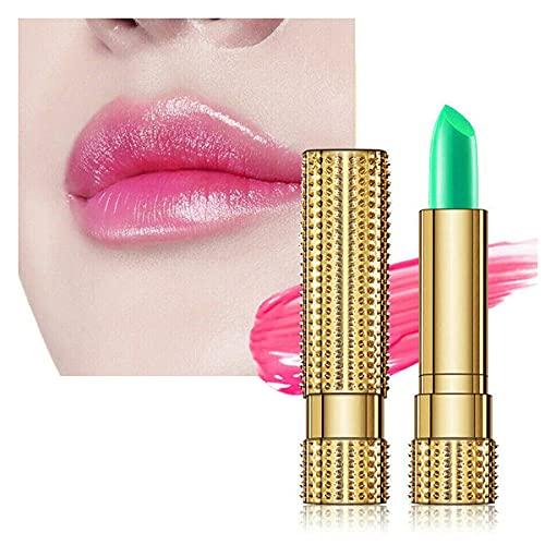3PCS Aloe Vera Lipstick, Magic Lip Balm Color Change Aloe Vera, Magic Temperature Color Change Lip Gloss, Not Easy To Fade Color Changing Lipstick