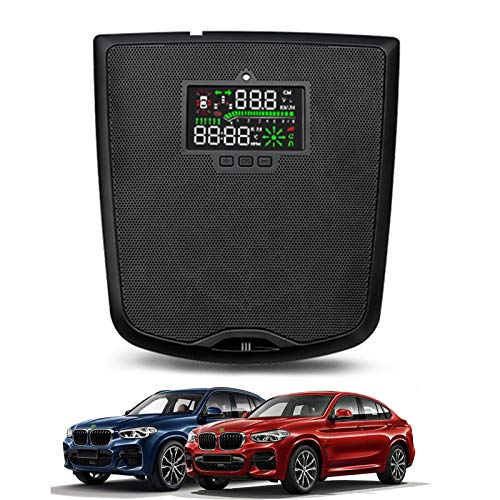 AWYLL HUD para automóvil, velocímetro GPS Digital con Pantalla Frontal para BMW X3 2020 2021 con Alarma de Exceso de Velocidad mph/KM/h Pantalla de visualización de Consumo de Combustible.