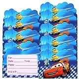 Qemsele inviti Compleanno Bambini, 30 Inglese Inviti Battesimo con Buste Biglietti Cartoline per Bambini, Ragazze Festa di Compleanno e Baby Shower (4,3 * 5,5 Pollici (11 * 14 cm), Car)