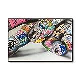 QND,Mural,Carteles e Impresiones artísticos de Graffiti Abstracto Labios de Mano de Mujer Pintura en Lienzo Imágenes artísticas de Pared para la Sala de Estar Dormitorio Decoración del hogar