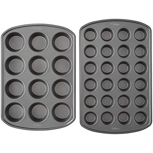 Wilton Perfect Results Premium Non-Stick Mini and Standard Muffin Pan Set, 2-Piece