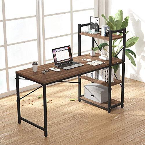 Dripex Holz Schreibtisch Computertisch 120x60x120cm PC-Tisch Bürotisch Officetisch Stabile Konstruktion Tisch für Home Office Schule 2
