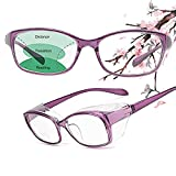 JO Progressive Multifocus Reading Glasses,Anti Fog Safety Glasses Blue Light Blocking for Women Men,No Line Multifocal Readers (purple, +1.50)