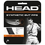 HEAD Unisex-Erwachsene Synthetic Gut PPS Set Tennis-Saite, Black, 17