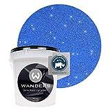 Wanders24® Glimmer-Optik (1 Liter, Gold-Blau) Glitzer Wandfarbe - Wandfarbe Glitzer - abwaschbare Wandfarbe - Glitzerfarbe - Made in Germany