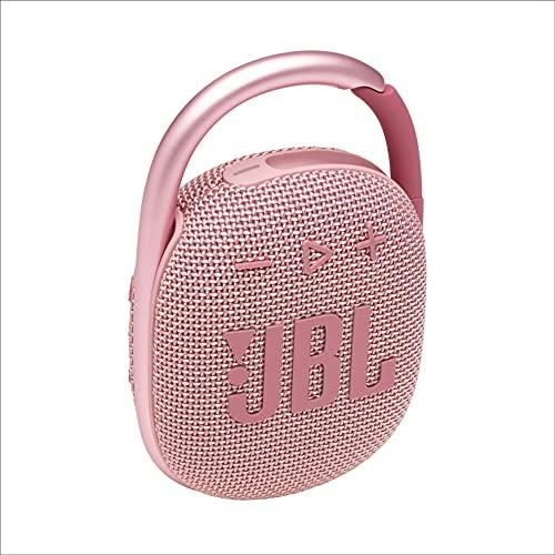JBL CLIP 4 Speaker Bluetooth Portatile, Cassa Altoparlante Wireless con Moschettone Integrato, Design Compatto, Resistente ad Acqua e Polvere IPX67, fino a 10 h di Autonomia, USB, Rosa
