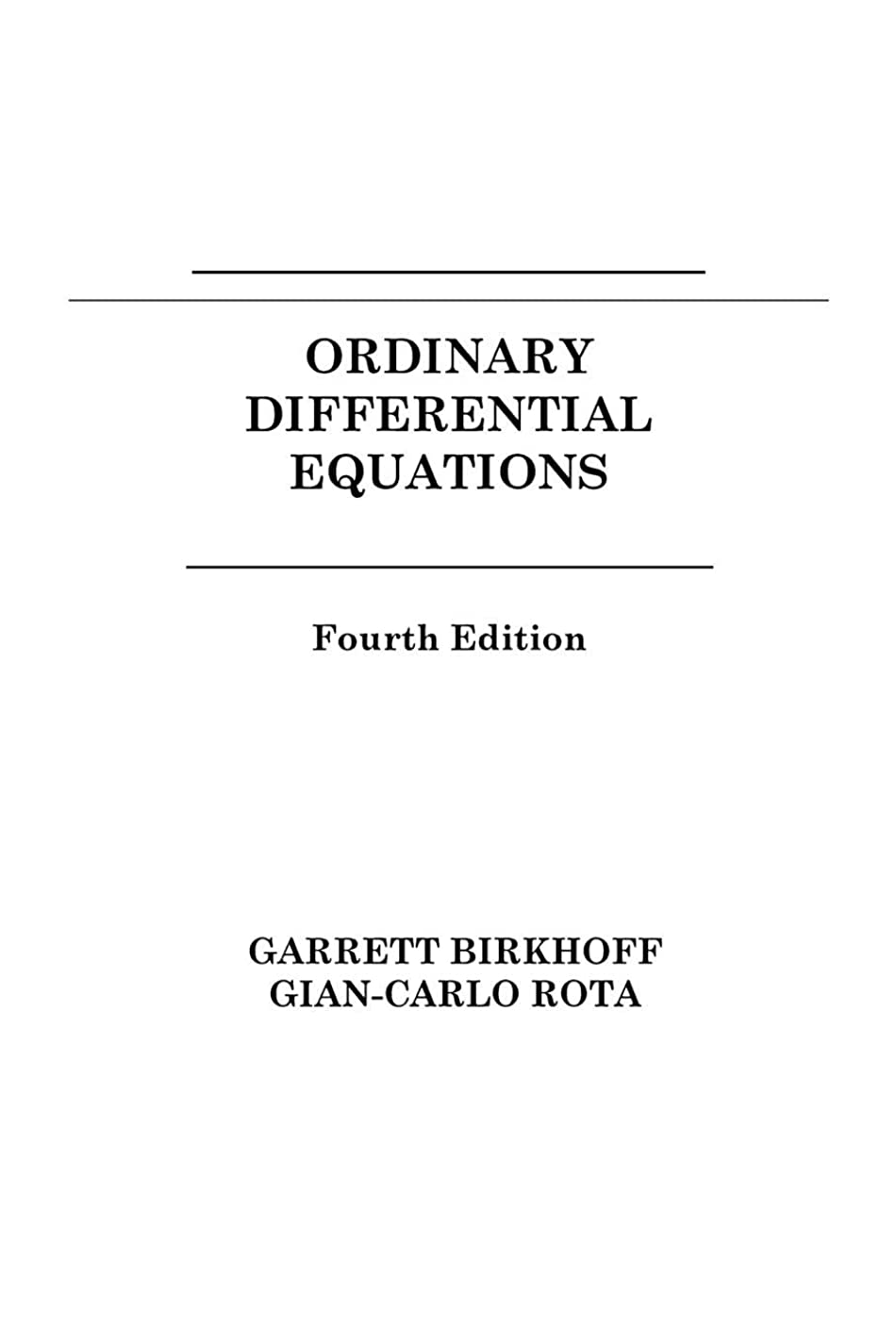 減衰宗教的な意図するOrdinary Differential Equations 4e