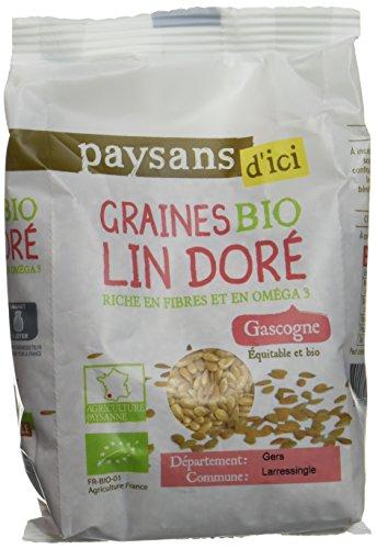 Ethiquable Graines de Lin Doré Bio 250 g Paysans d'Ici