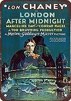 Lon Chaney in London After Midnight 金属板ブリキ看板警告サイン注意サイン表示パネル情報サイン金属安全サイン