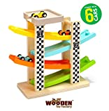 The Wooden Toy Factory - Circuito de Coches de Carreras Click Clack...