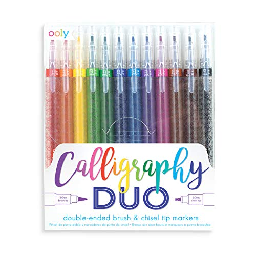 Ooly Calligraphy Duo Double Ended Markers - Set of 12