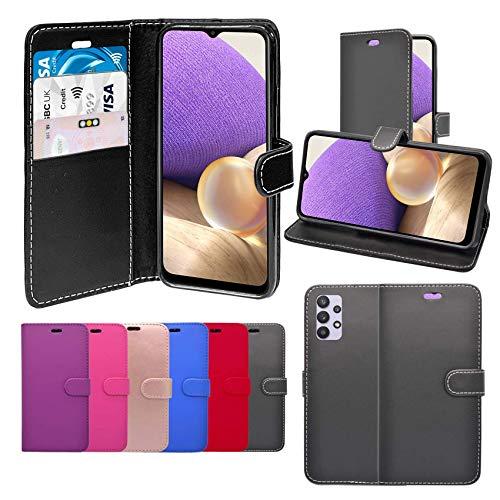 Unbranded Case Funda para Galaxy A32 5G Libro Cartera Soporte Cuero De PU Tarjeta Ranura Funda Compatible con Funda para Teléfono - Oro Color De Rosa