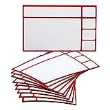 10 magnetische Karten in Rot/Variante mit 4 kleinen Feldern für Scrum Board, Kanban Tafel, Task Board, Lean Board u.v.m.