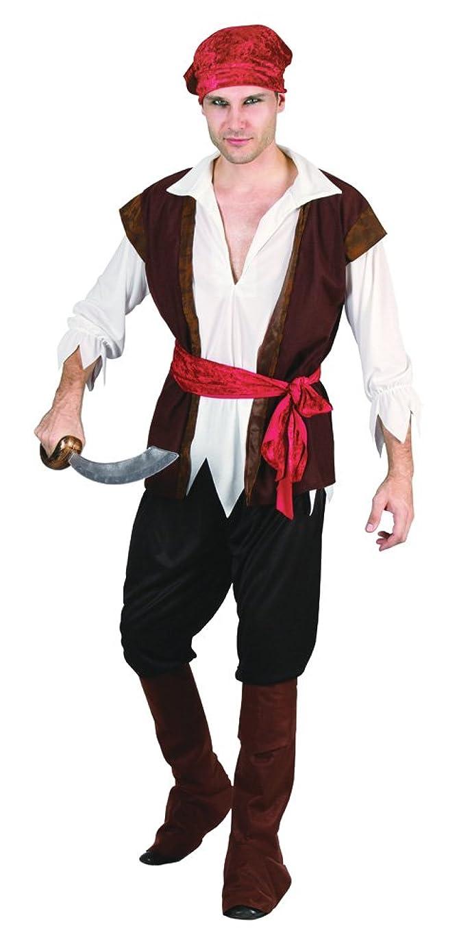 胚中にランドマークBristol Novelty Pirate Man Brown Waistcoat . Adult Costumes - Men's - One Size.