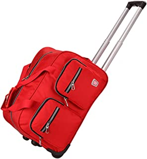 Holdall Trolley Bag Wheeled Hand Luggage Holiday Weekend lightweight (Color : Orange, Size : 53 * 32 * 34cm)