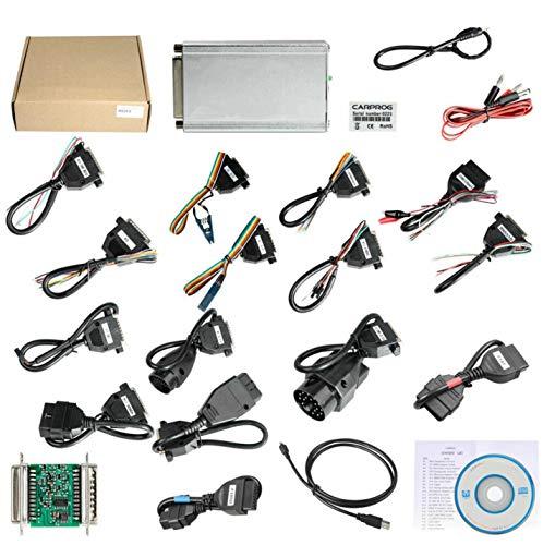 HaoYiShang OBDII Scanwerkzeug V10.93 Komaplettset 21 Teile Anschlusszubehör, 1 Unterstützungs-Set für die Zurücksetzung des Airbags, Dash IMMO MCU / ECU BI1304 for WINDOWS XP WIN 7 32bits