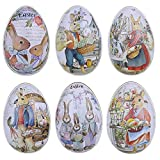 N\C 6pcs Easter Egg Gift Box, Jewelry Box Packaging Box, Tinplate Iron Egg Candy Box, Used For Candies, Biscuits, Valentine's Day Chocolates