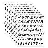 SAVITA 8 Fogli Nero Lettere Adesive Piccole Lettere Adesive per Muro Adesivi Lettere Alfabeto Kit Lettere Adesive Componibili, Nero per Cassetta Postale Auto Porta A Muro