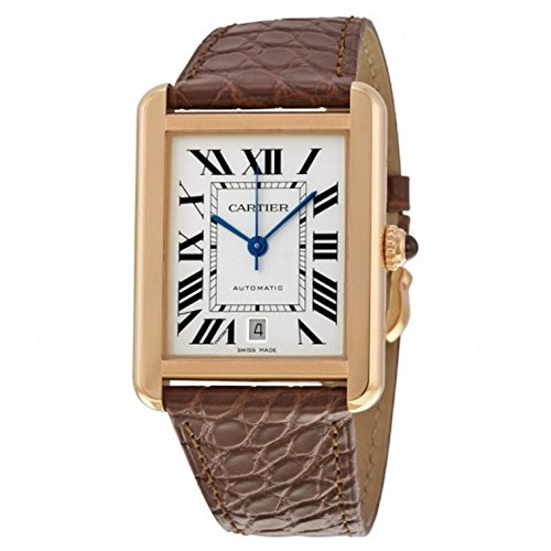 Cartier Men's W5200026 Tank Solo Analog Display Automatic Self Wind Brown Watch