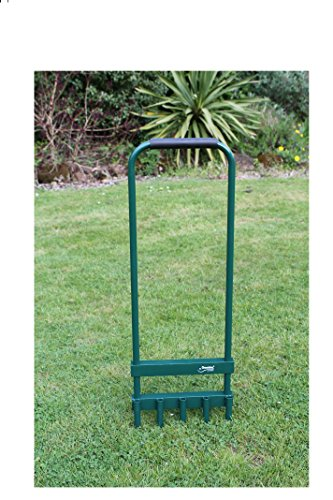 Greenkey Garden and Home Ltd Hollow Tine Lawn Aerator, Green