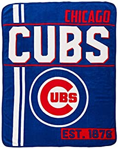 Sports recreation product MLB Chicago Cubs Super Plush Throw Blanket (D132) Quality product Blue