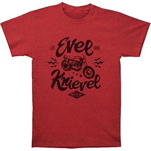 American Classics Evel Knievel One Evel Motorrad-T-Shirt - Rot - 5X-Groß