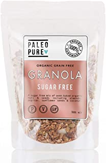 Paleo Pure Sugar Free Organic Grain Free Granola, 300 g
