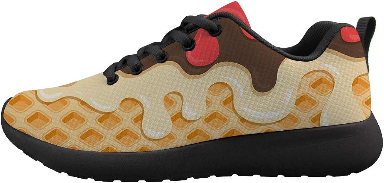 Owaheson Cushioning Sneaker Trail Running shoes Mens Womens blueeberry Honey Waffle Lattice