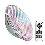 Lmpara LED PAR56 RGB para piscinas, G53, 45W, Acero Inox. Int, RGB, regulable