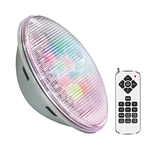 Lámpara LED PAR56 RGB para piscinas, G53, 45W, Acero Inox. Int, RGB, regulable