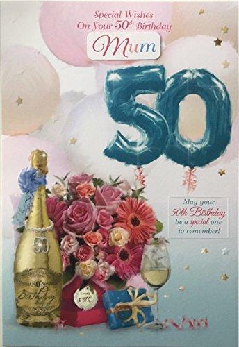 50. Geburtstag Karte Weiblich Titel Tochter Schwiegertochter Frau Freund Schwester Mum