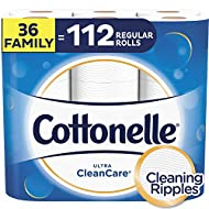 Cottonelle Ultra CleanCare Strong Toilet Paper, 36 Family Plus Rolls, Bath Tissue, Septic-Safe