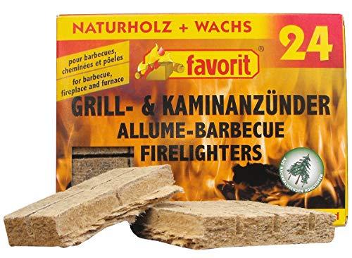 24 Kohleanzünder Grillanzünder Kamin-Anzünder Ofenanzünder Anzünder 24 Stück