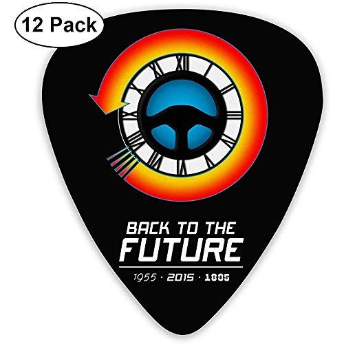 Mode zurück in die Zukunft Trilogie Plektren (12er Pack) für E-Gitarre, Akustikgitarre, Mandoline