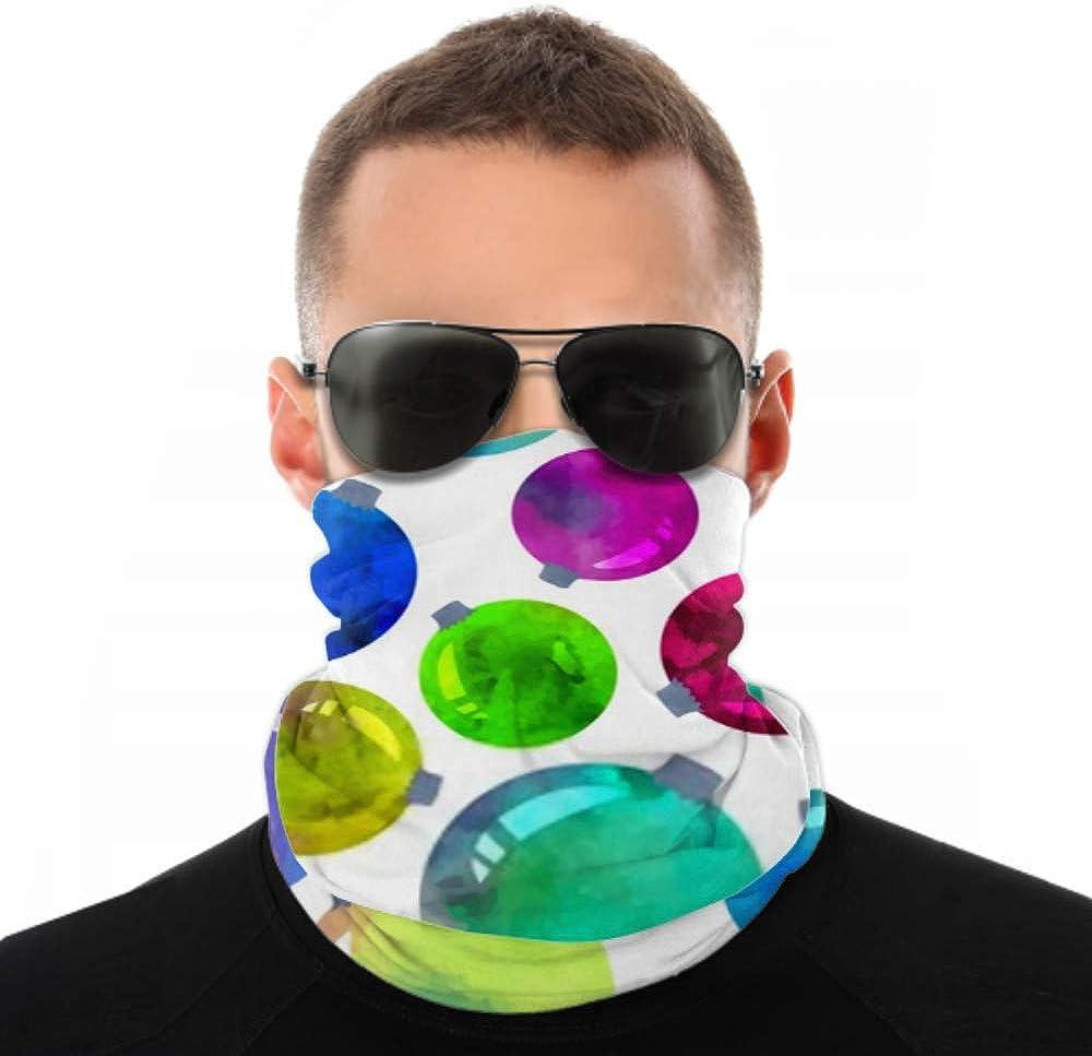 Headbands For Men Women Neck Gaiter, Face Mask, Headband, Scarf Colorful Christmas Balls Vector Watercolor Seamless Turban Multi Scarf Double Sided Print Sport Headbands For Women For Sport Outdoor