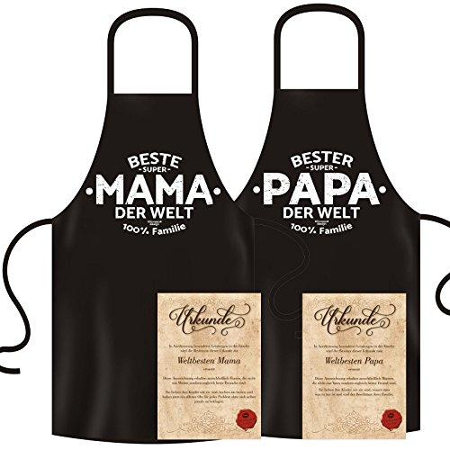2delantales Mama & Papa: Plus 2Certificados: Set de regalo Padres