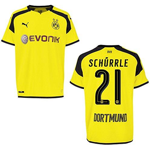 PUMA BVB Borussia Dortmund Trikot 3rd Herren 2016/2017 - SCHÜRRLE 21, Größe:S